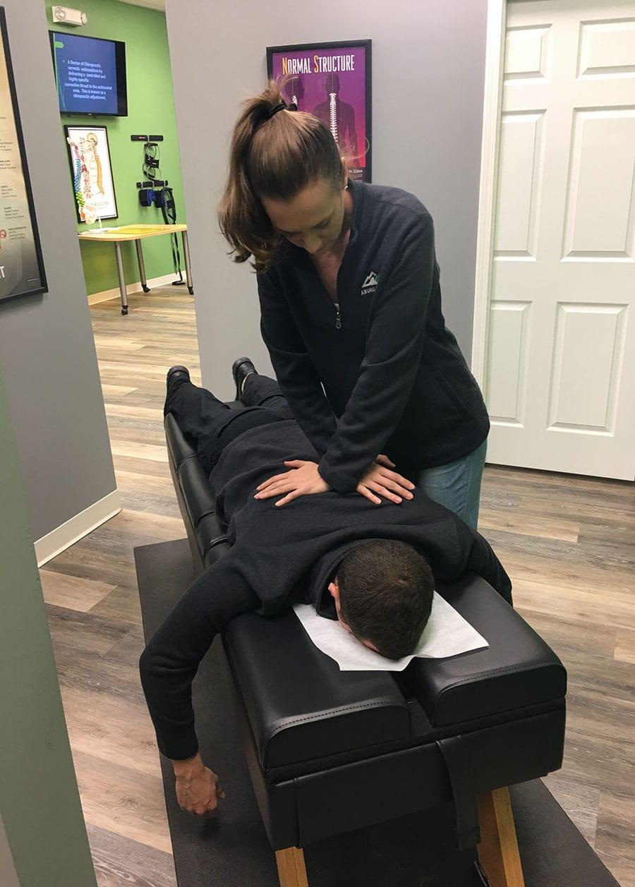 Dr Ali Female Chiropractor Columbus OH adjusting